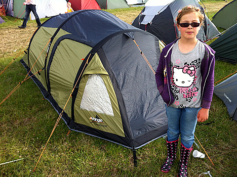 Amber with the super speedy Vango AirBeam tent