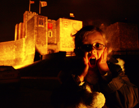 Amber staying overnight at Dover Castle