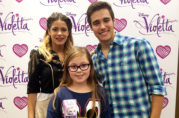 Amber with Martina (Violetta) and Jorge (Leon) from Violetta