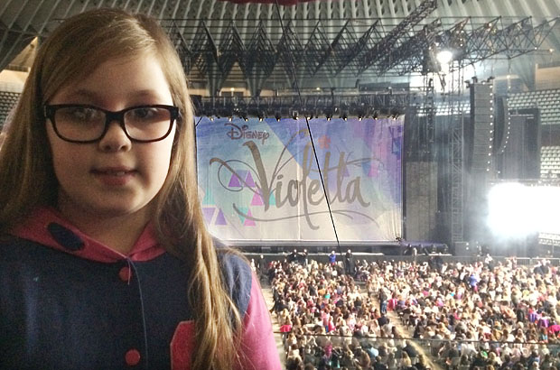Amber at the Violetta concert in Rome