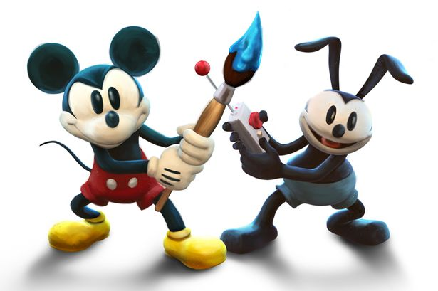 I love the retro feel to Mickey and Oswald