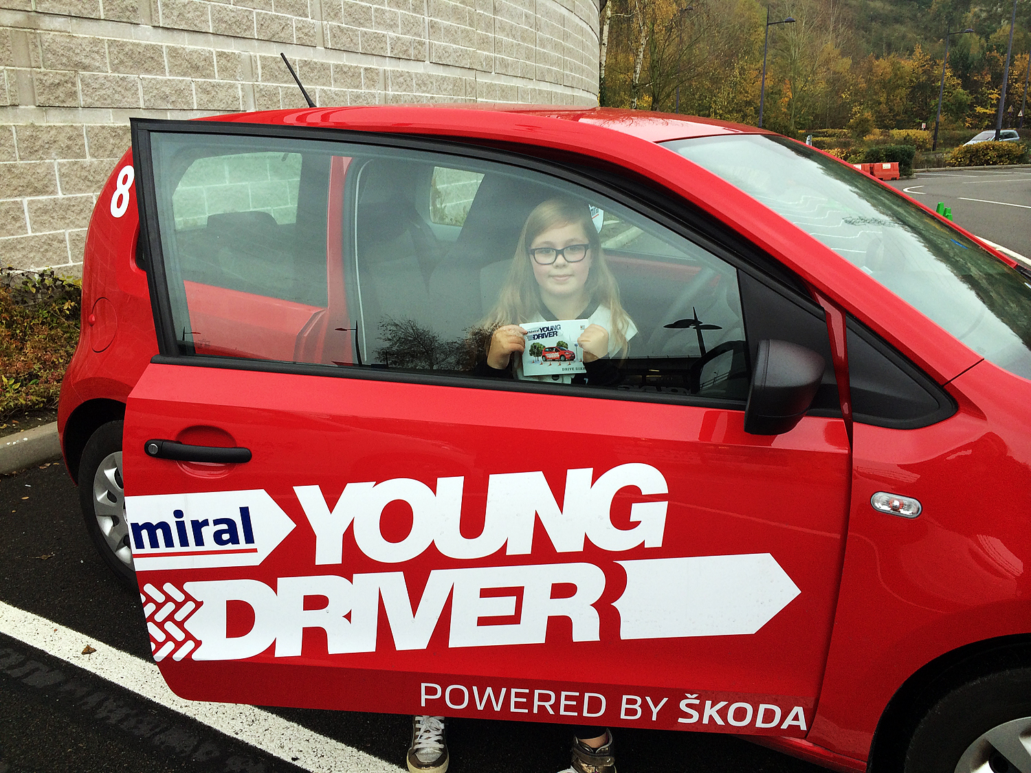 Amber having her first driving lesson with Young Driver