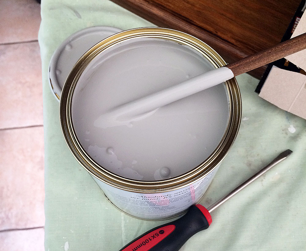 Annie Sloan paint I used was in Paris Grey. There are 33 colours to choose from.