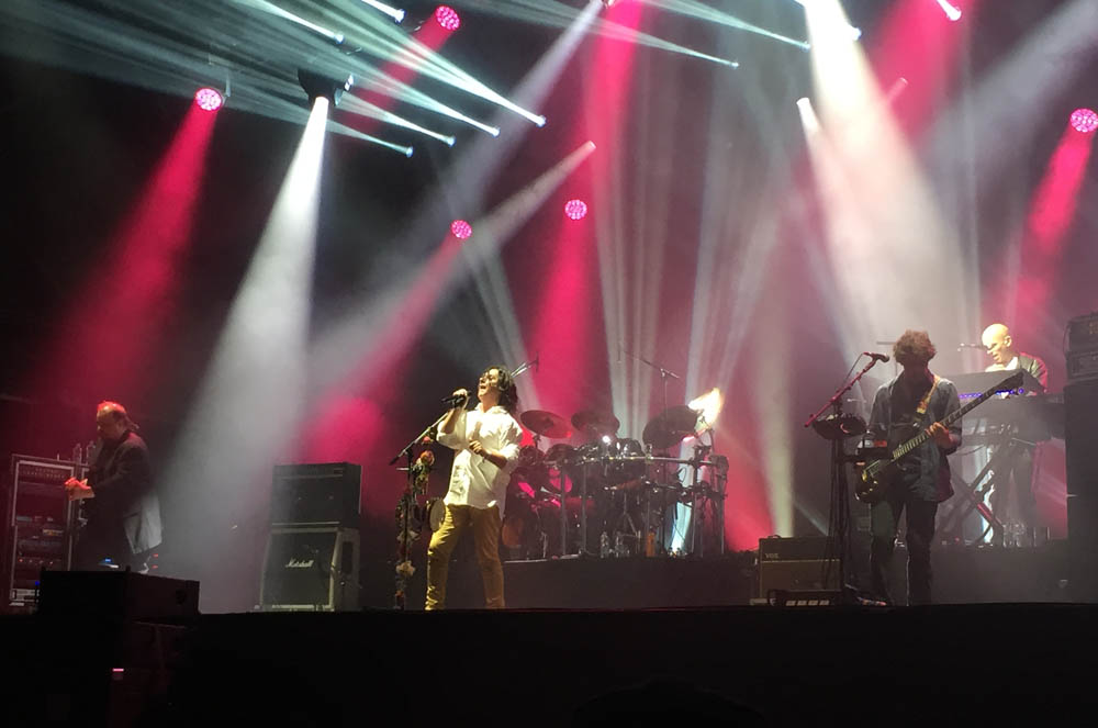 Sunday headliners Marillion on stage at Ramblin' Man Fair, Maidstone, Kent