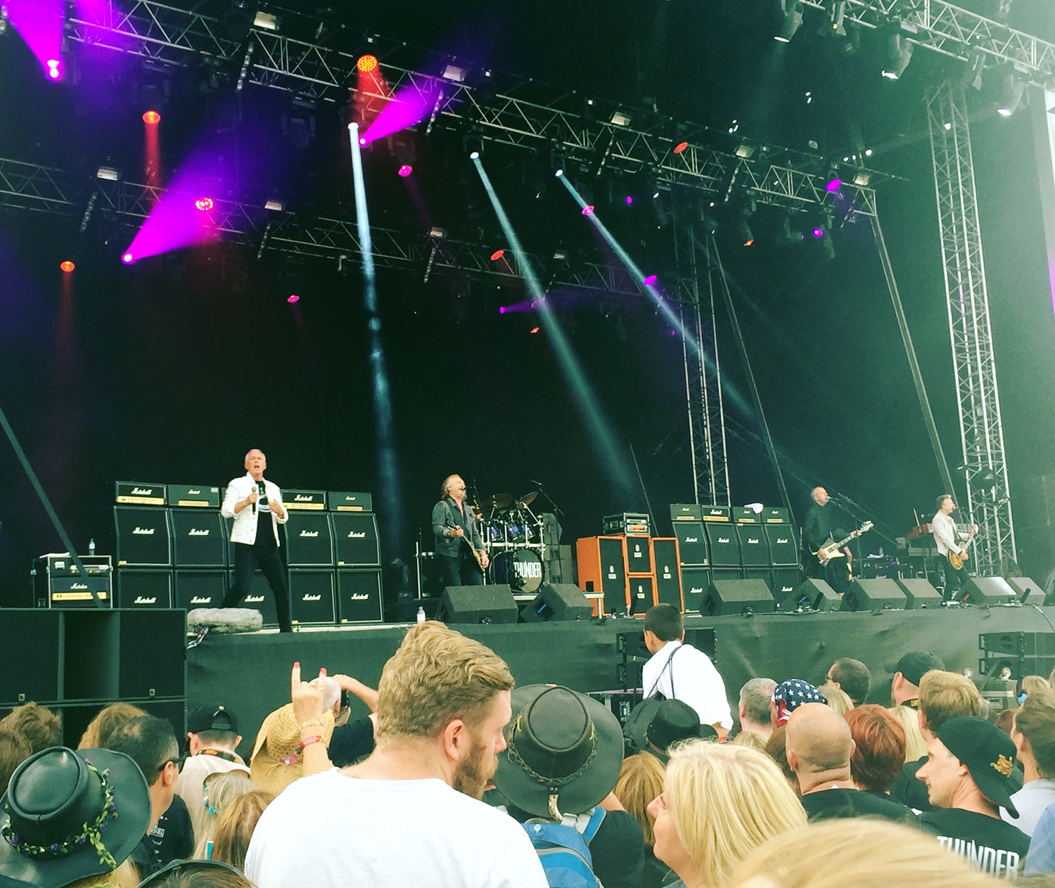 Thunder on stage at Ramblin' Man Fair