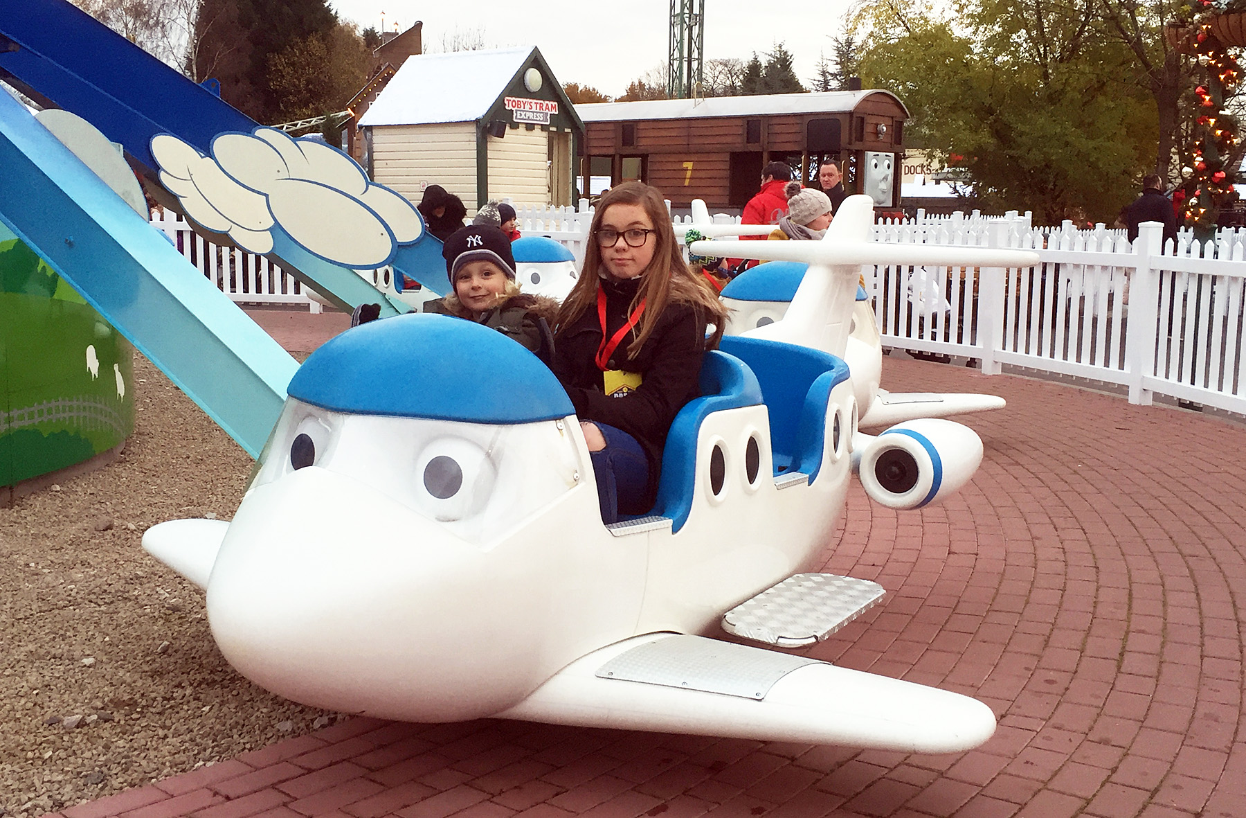 Flying lesson at Sodor airport in Thomas Land