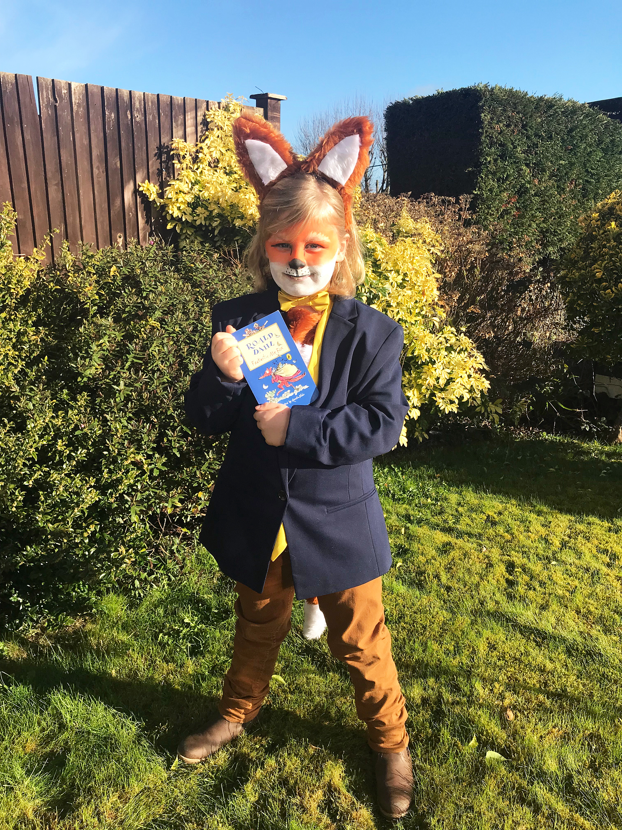 Jacob dressed as Roald Dahl's Fantastic Mr Fox for World Book Day