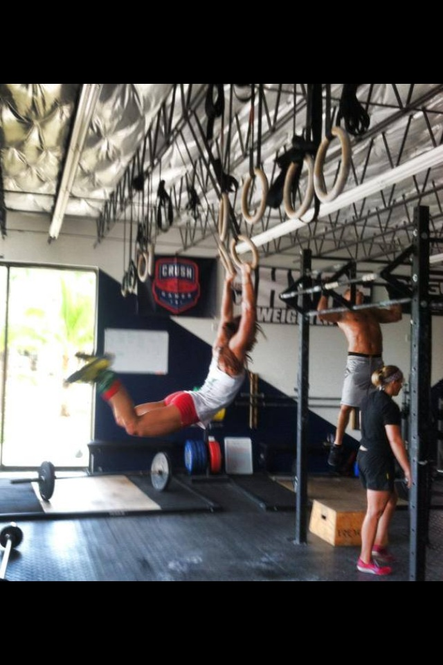 Staci VanVonno Coach CrossFit HYPE East Boca Raton Personal Training Fitness Gym Muscle Up girls who lift