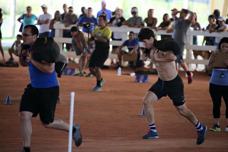 andy o'neill crossfit hype crush games sprint sandbag boca raton fitness east mizner park