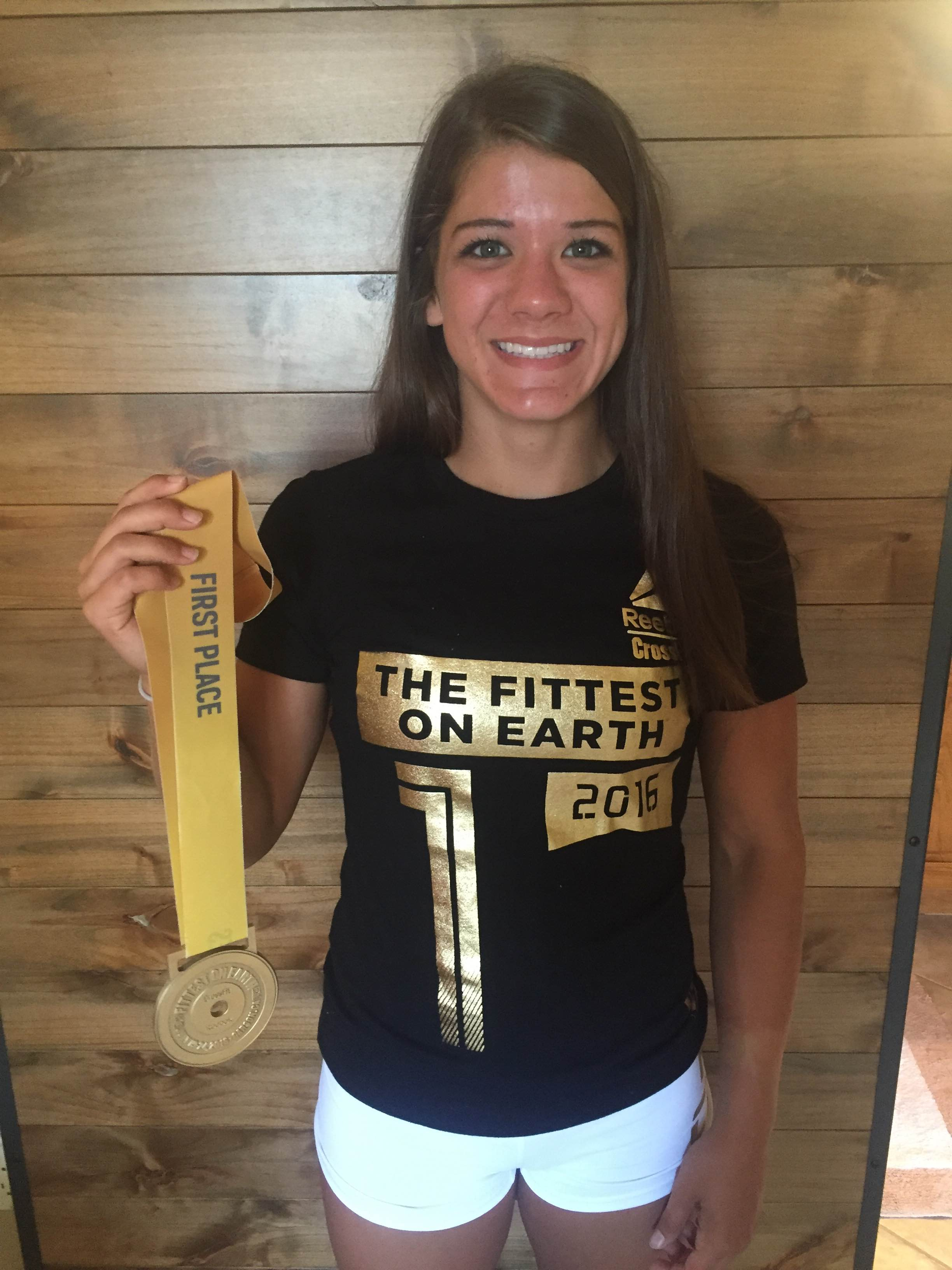 "Our TEEN, KAELA STEPHANO WON ""FITTEST TEEN ON EARTH"" AT THE CROSSFIT GAMES FOR 14-15 YEAR OLD ATHLETES IN 2016"
