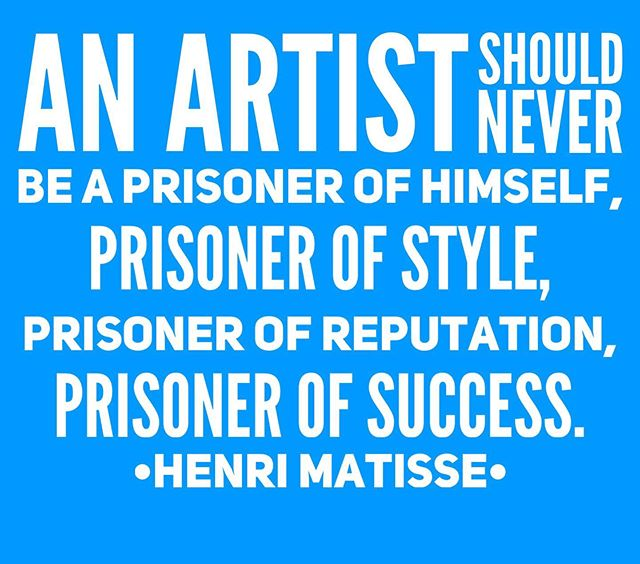 An #artist should never be a prisoner of himself, prisoner of #style prisoner of reputation, prisoner of #success #HenriMatisse . . . #inspiration #quotes #thornartist #fineart #fineartcollector #gallery #theurbanatelier #instadaily #followyourpassion #creative #love #artlove #artlovers #instaart #instaartist