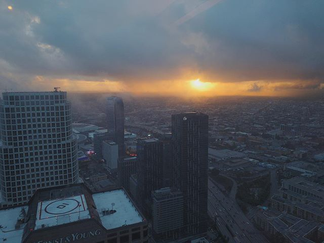 Sunset after a rainy day in LA