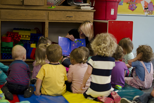 Our toddler room includes some of the most engaging story-tellers you will ever meet!