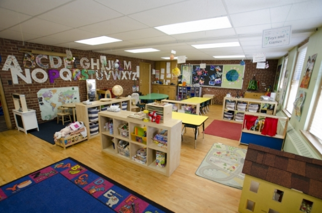 The Pre-K classrooms include space for all the projects that will prepare our students for success in school--without sacrificing fun!
