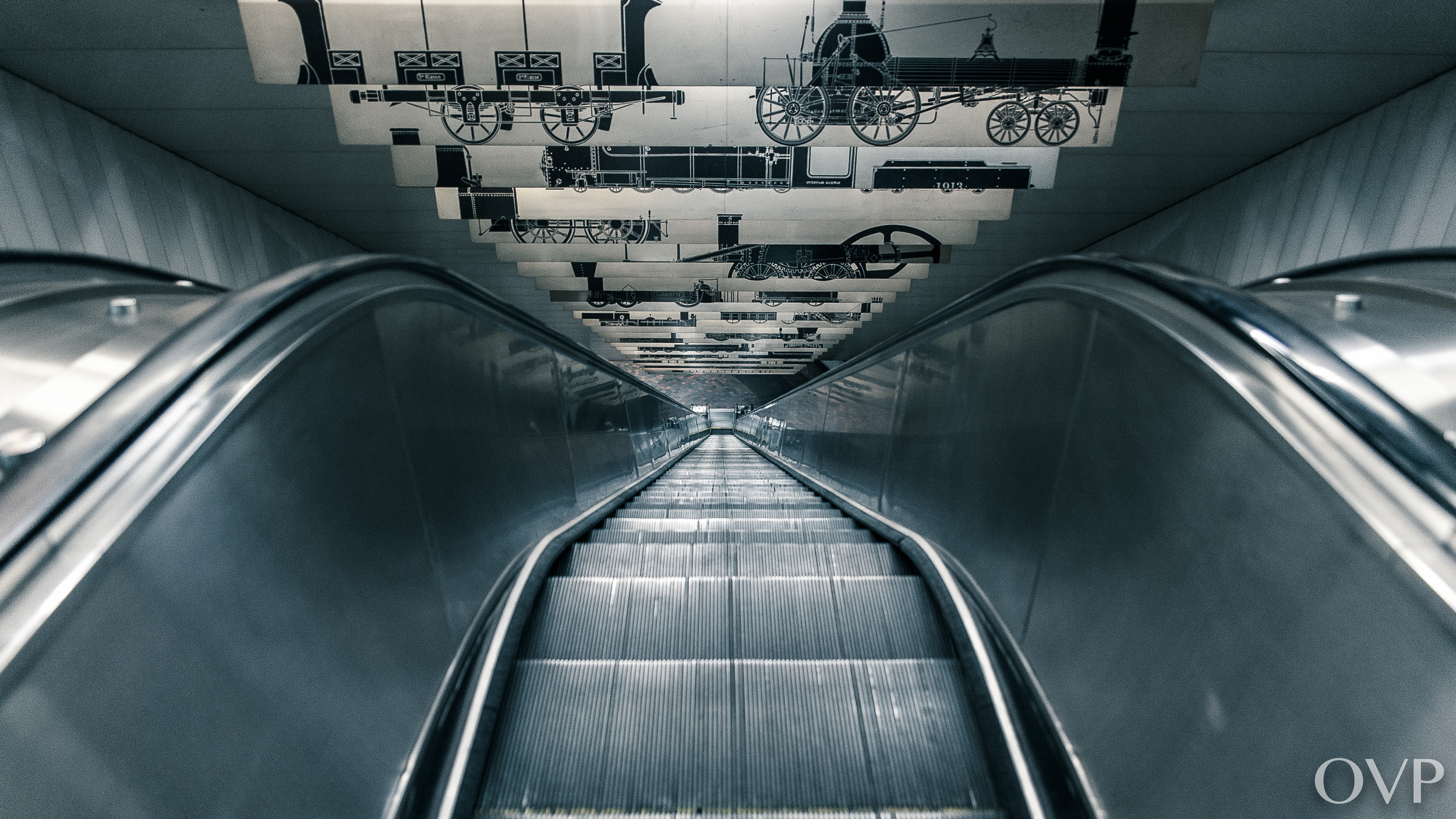The longest single span of the escalators is 143feet, the longest in the MBTA system.
