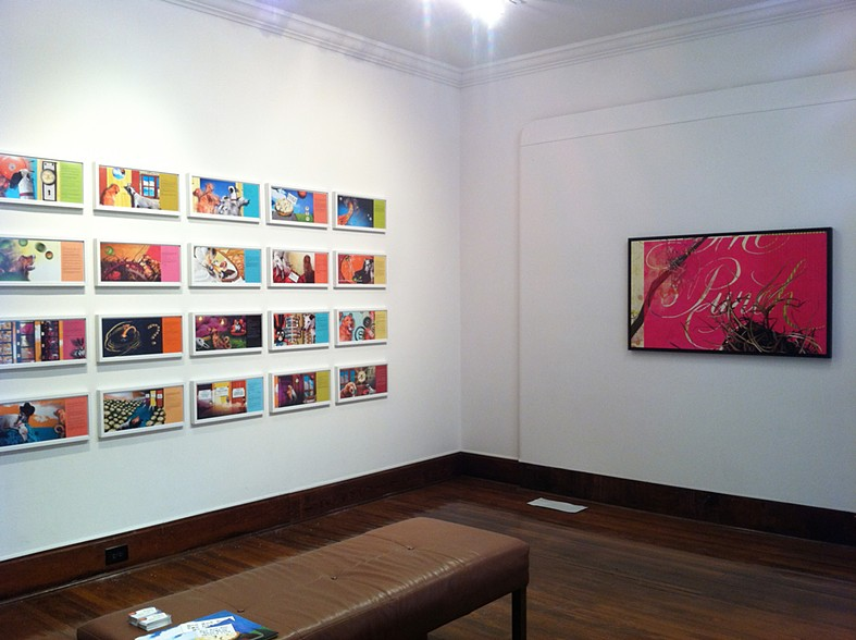 """Installation View.  """"Decade"""" exhibition at the Beeville Art Museum, Beeville, Texas. 2012"""