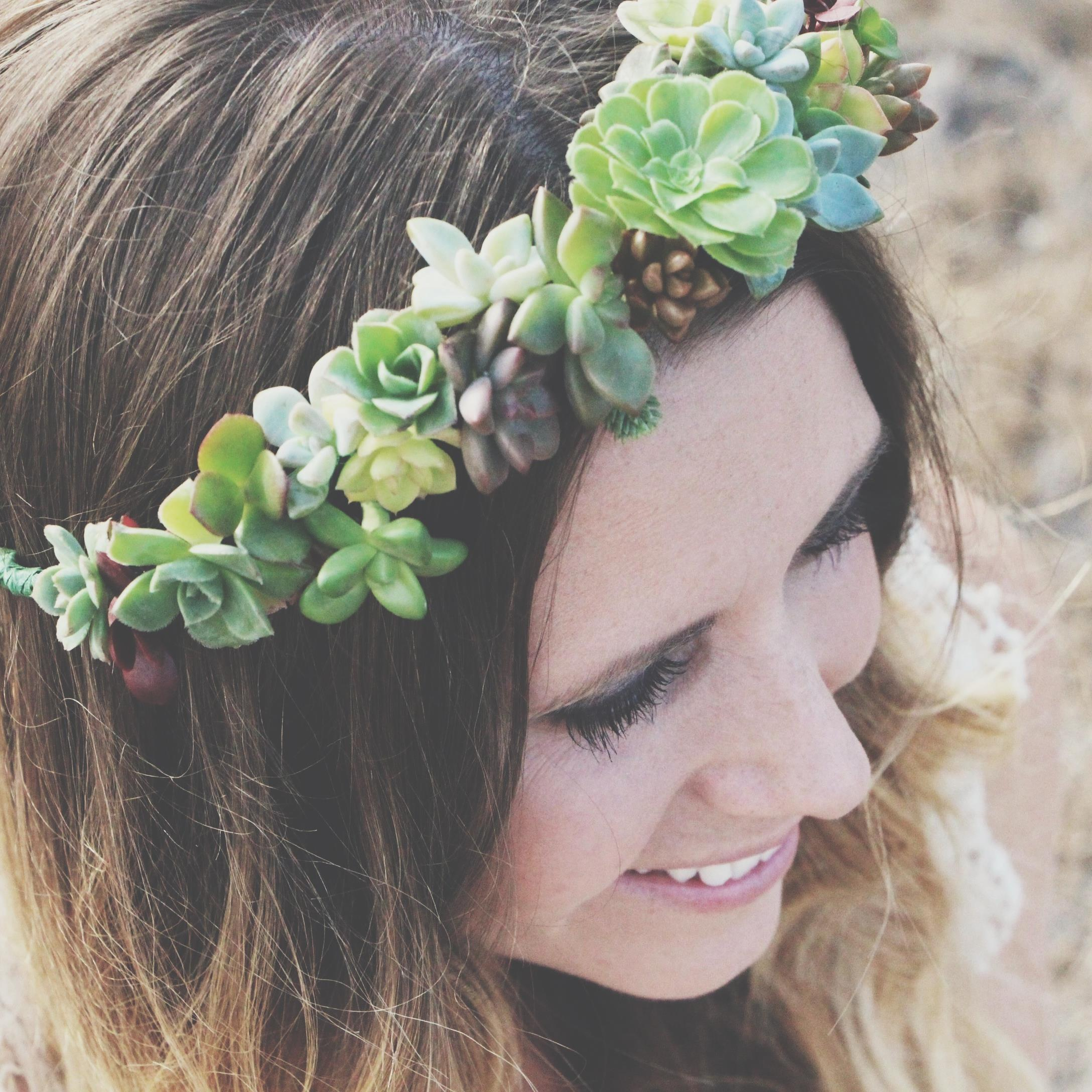 DIY Succulent Crown