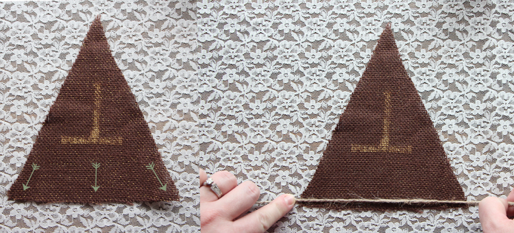 DIY Burlap Bunting via Needles + Leaves :: Thanksgiving Decorations :: Succulents :: Home Decor