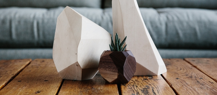 Foxwood Co. handmade and handcrafted wood succulent planter via Needles + Leaves blog.