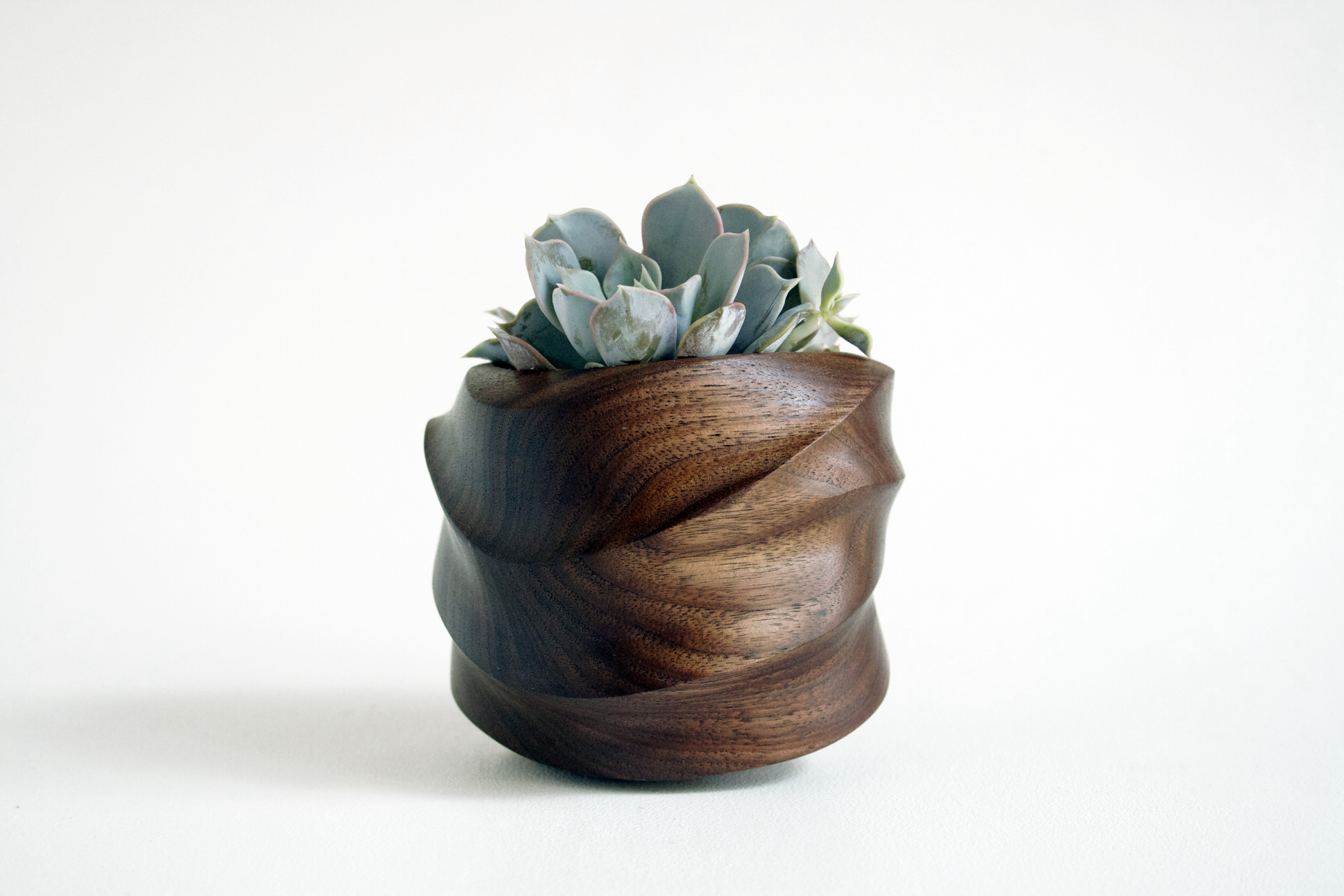 Foxwood Co. FORMA Walnut Vessel handmade and handcrafted wood succulent planter via Needles + Leaves blog.