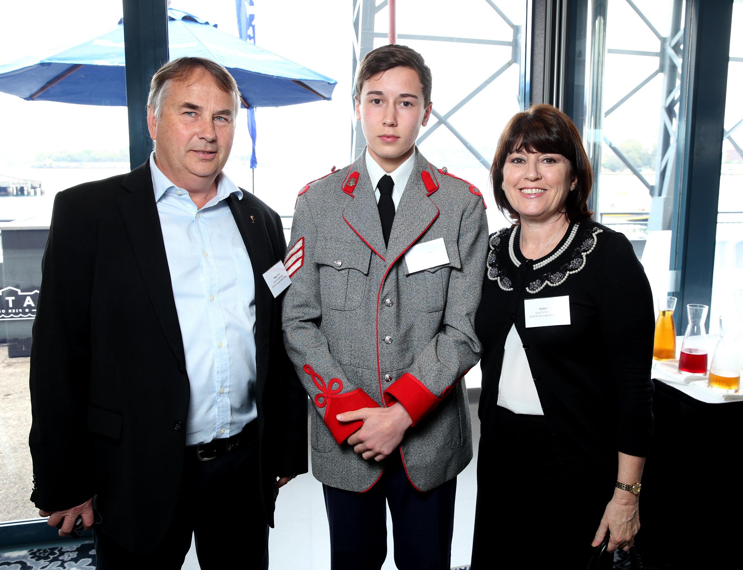 Ralph Kelly  Stuart Kelly and  Kathy Kelly at the 2014  Pride Of Australia Medal (1) copy.jpg