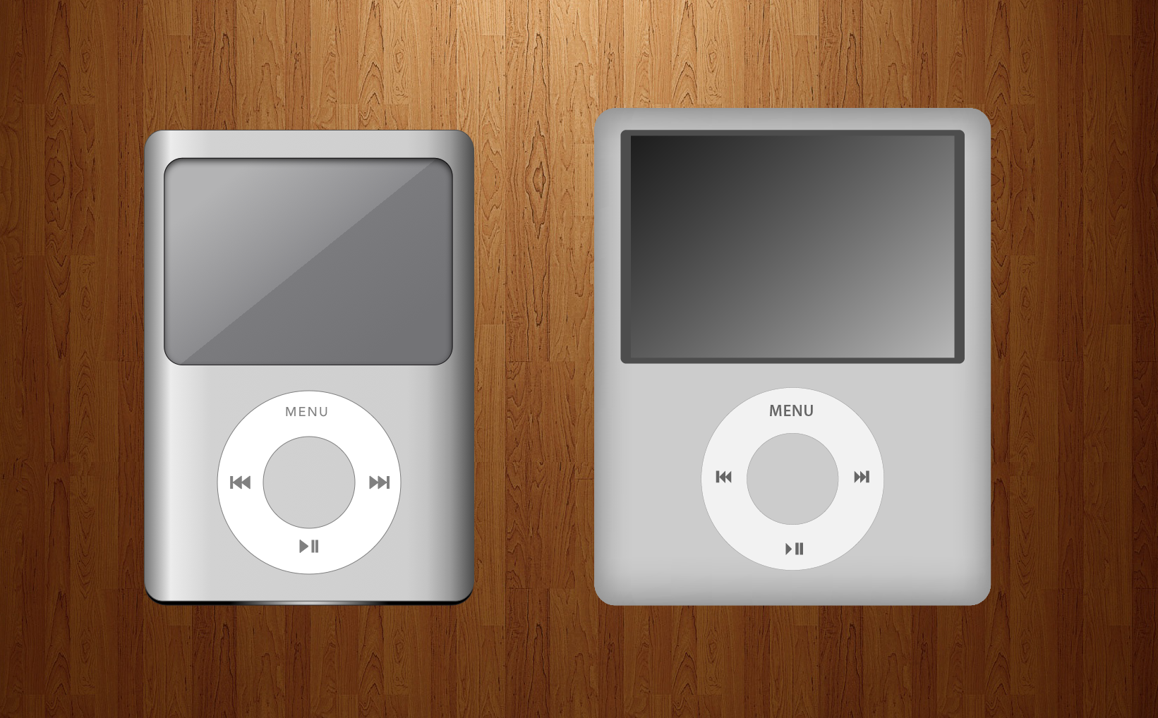 iPods drawn in AI and iDraw