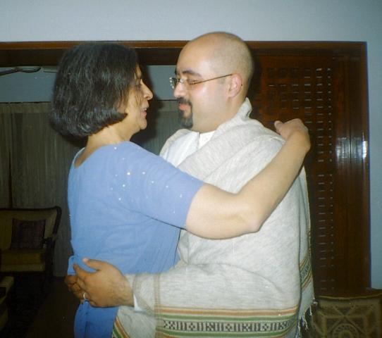 Ami and Ameel Embracing at Ameel's Nikah.jpg