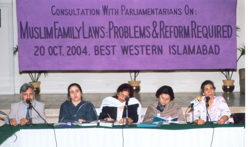 Shahla Zia at a panel in 2004