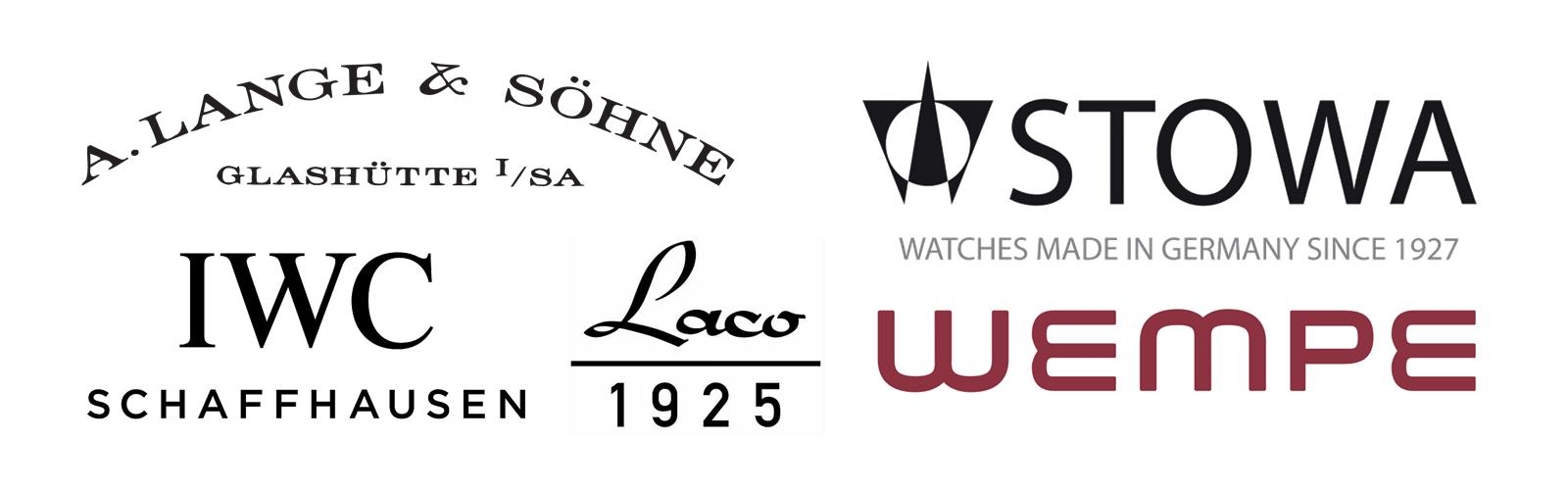 Modern logos of the original flieger watch manufacturers.png