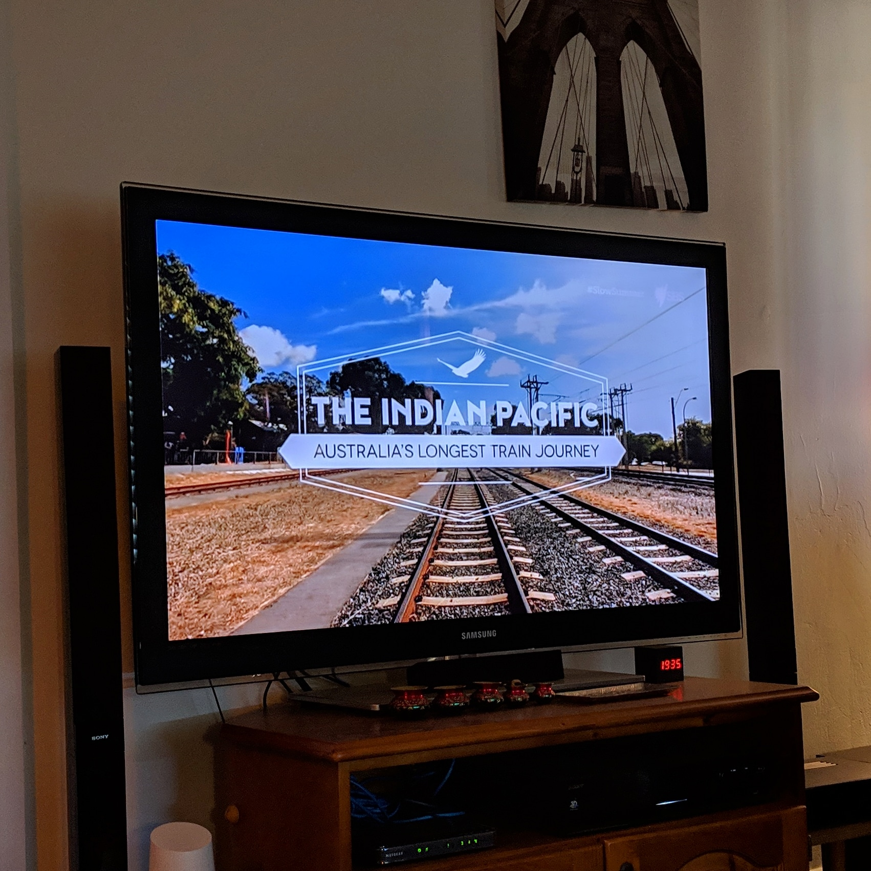 All set for a #SlowSummer with the Indian Pacific on SBS :) #SlowTV #sundaynight