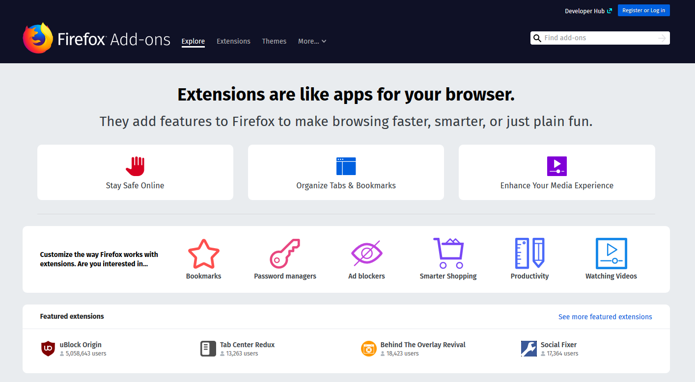 Firefox extensions website.png