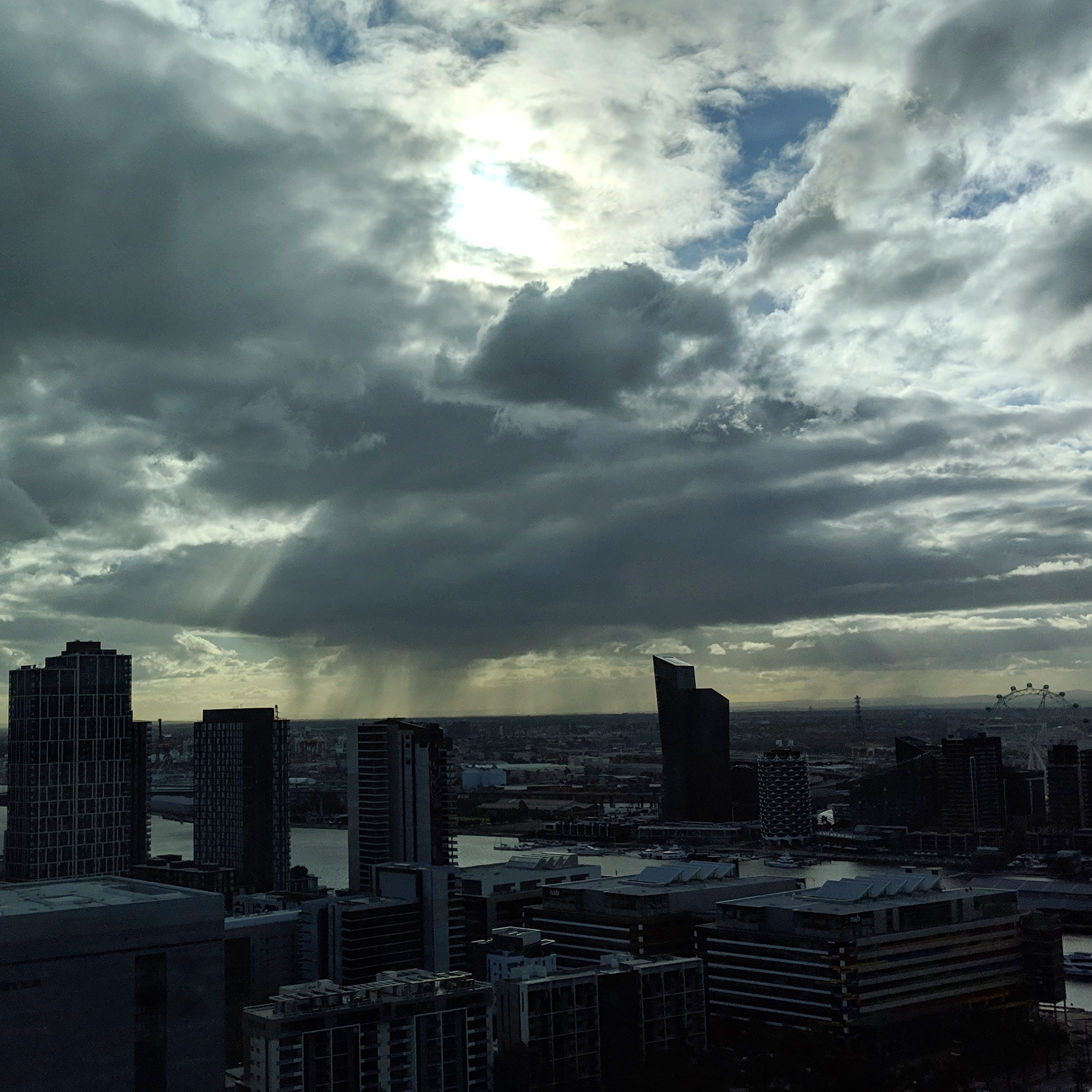 Looking towards Sunshine from the 29th floor of a building in Docklands.