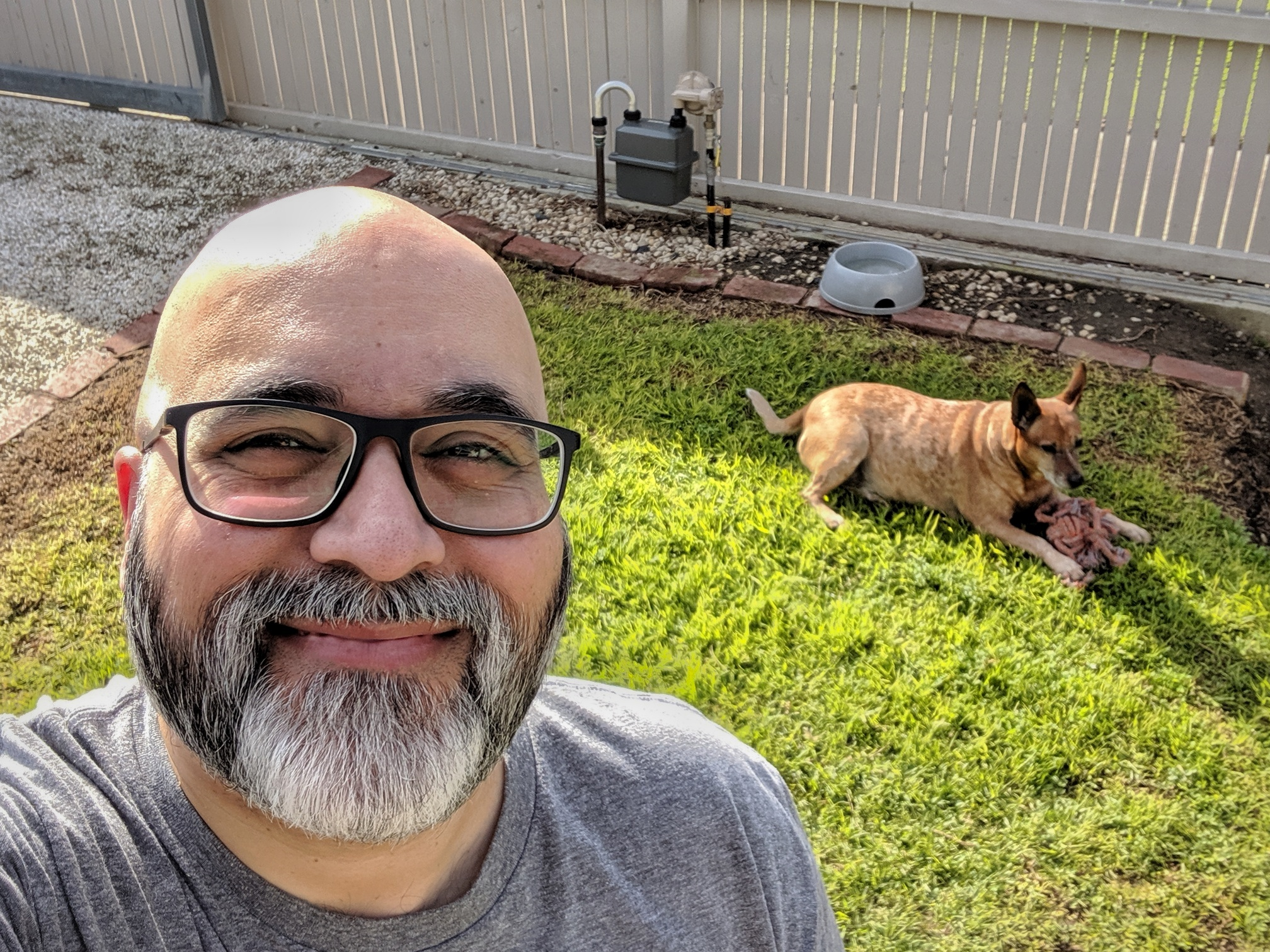 Sunny Saturday selfie (with dog).