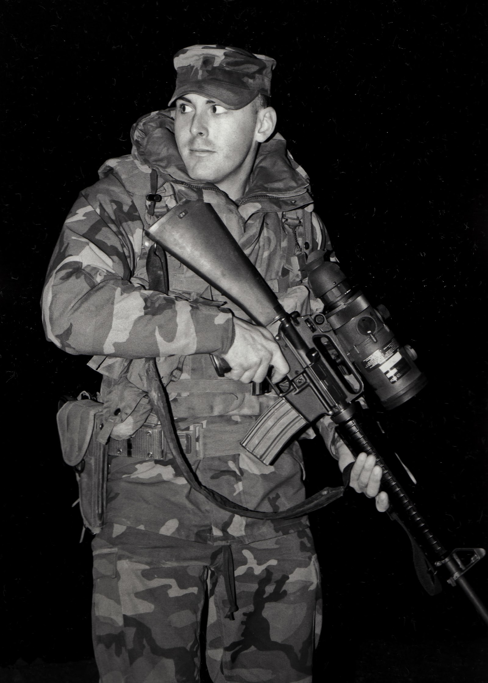 Director Jesse Gustafson in Bosnia, 1997