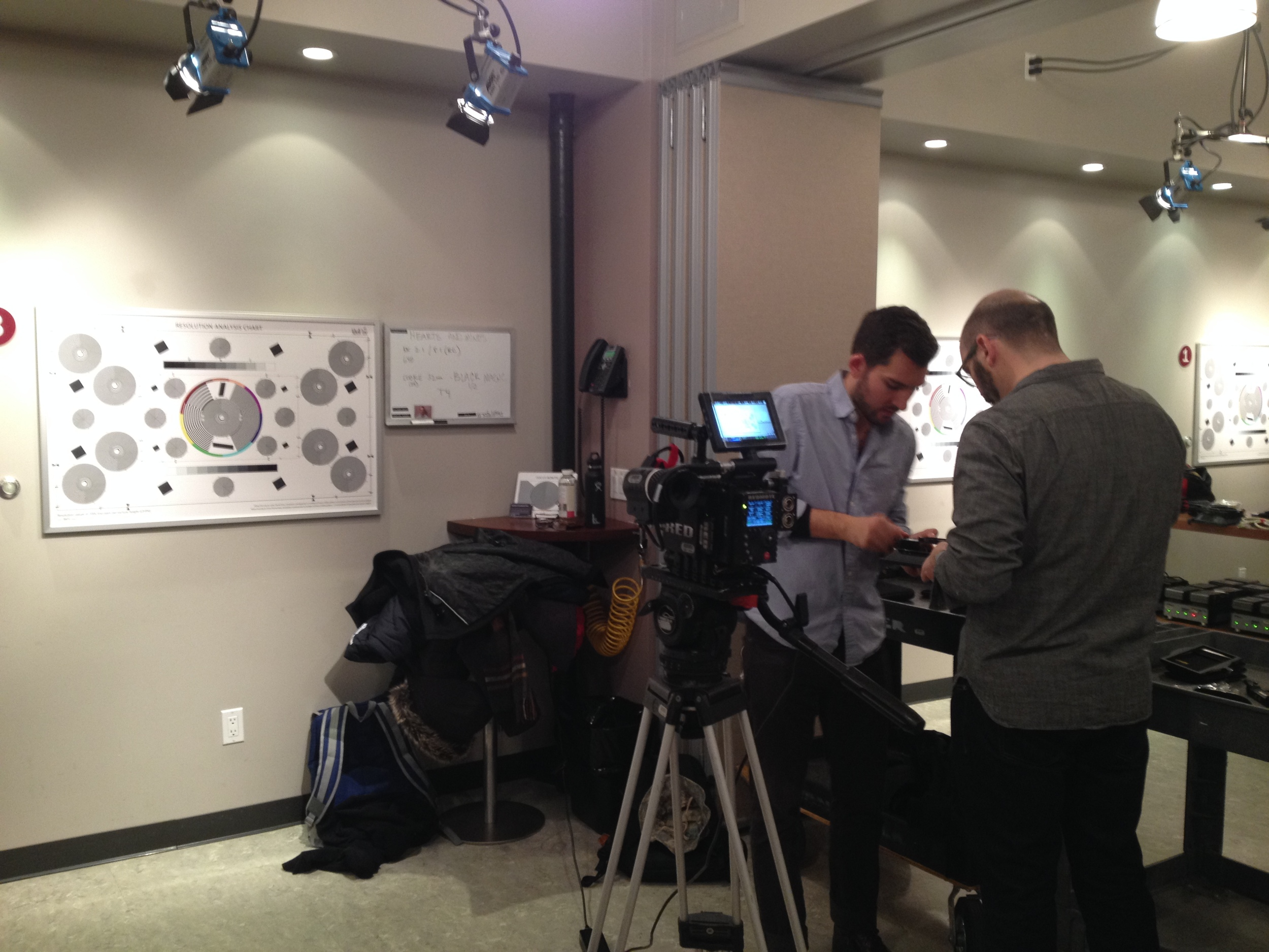 Jesse and Laurence get the camera ready for the test
