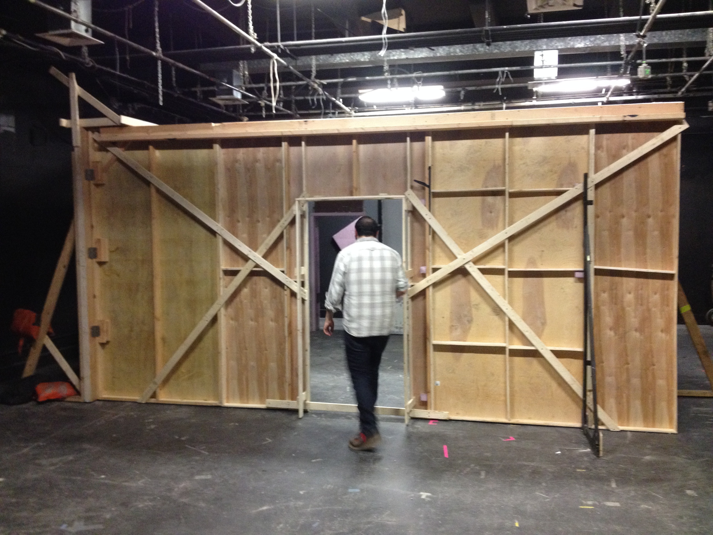 The walls to the hut are up.
