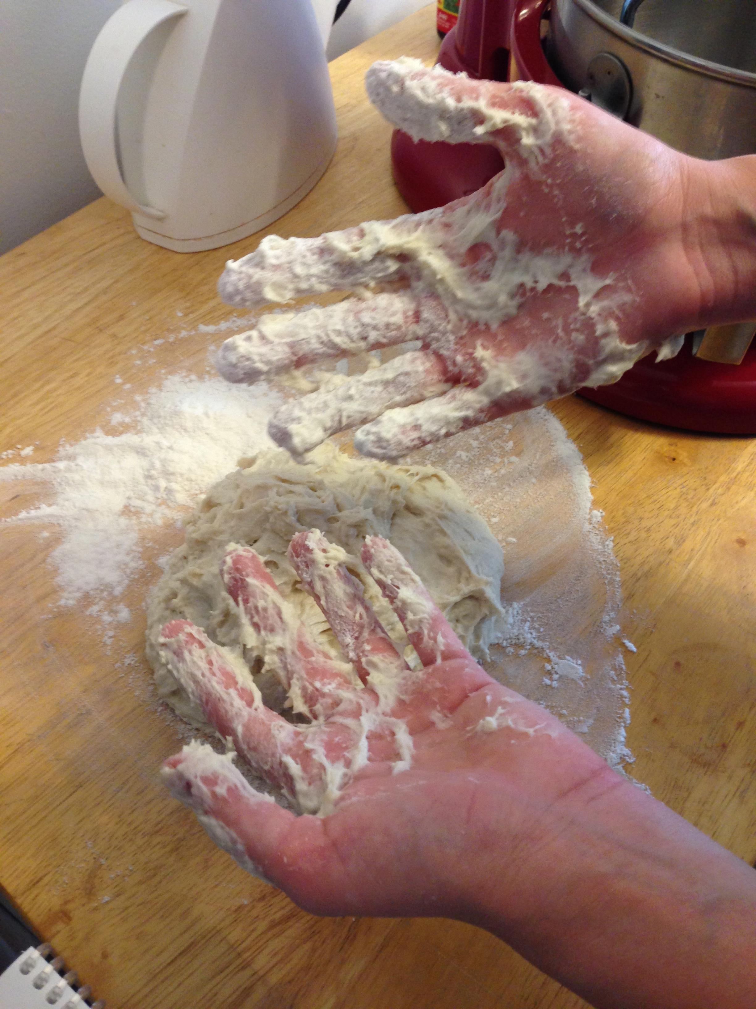 Really sticky dough