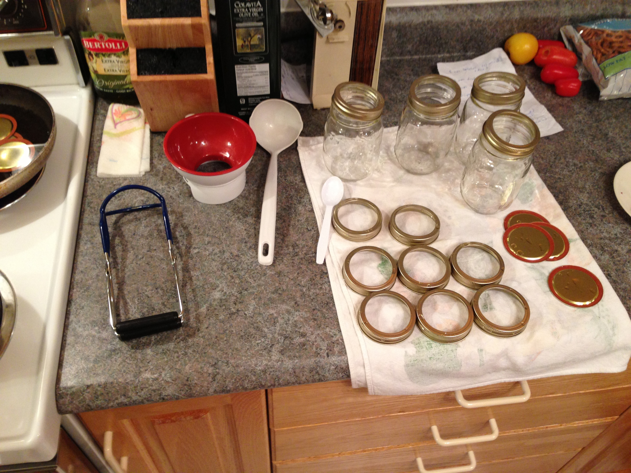 Canning station ready.