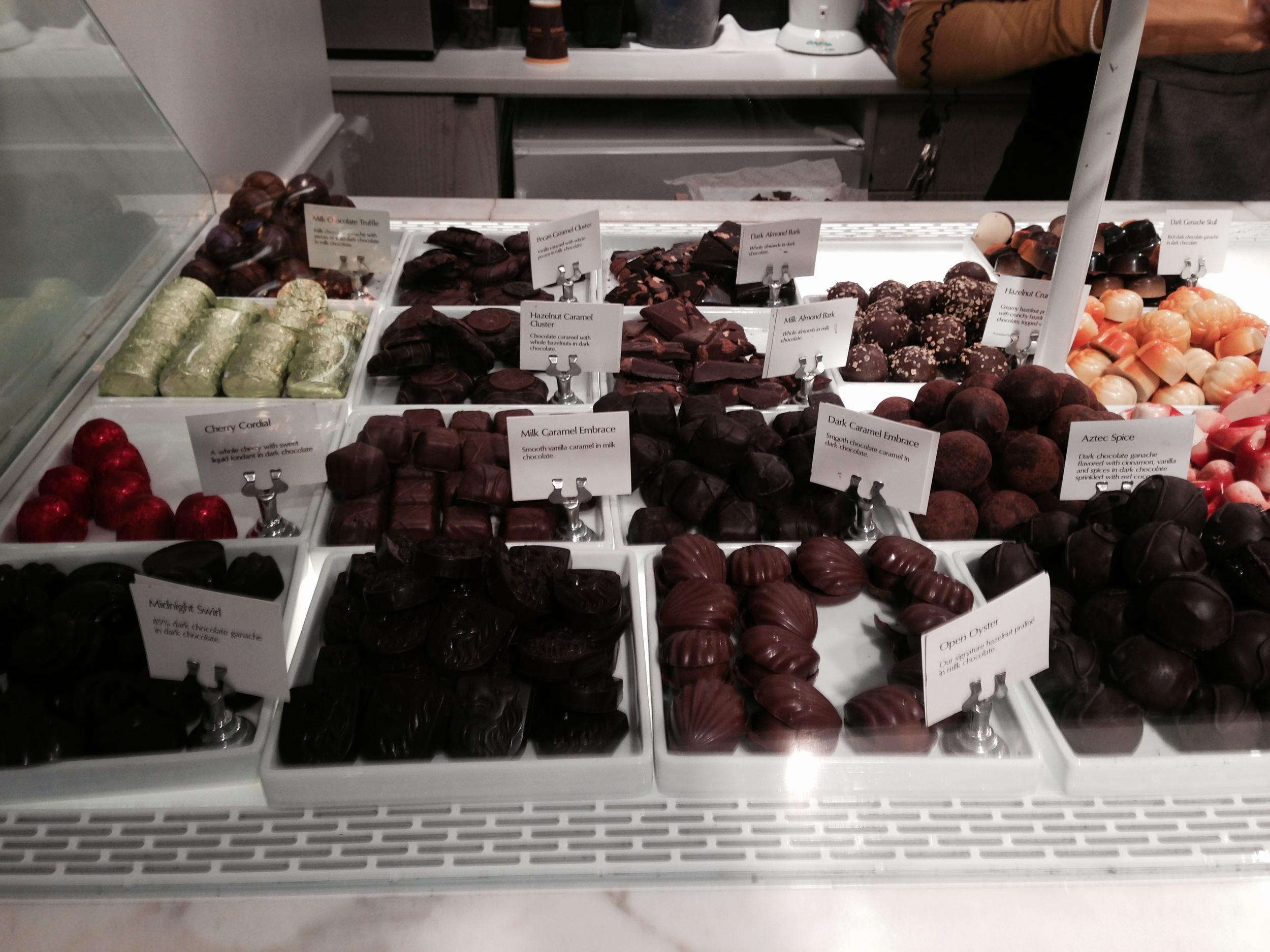Godiva's Chocolate counter
