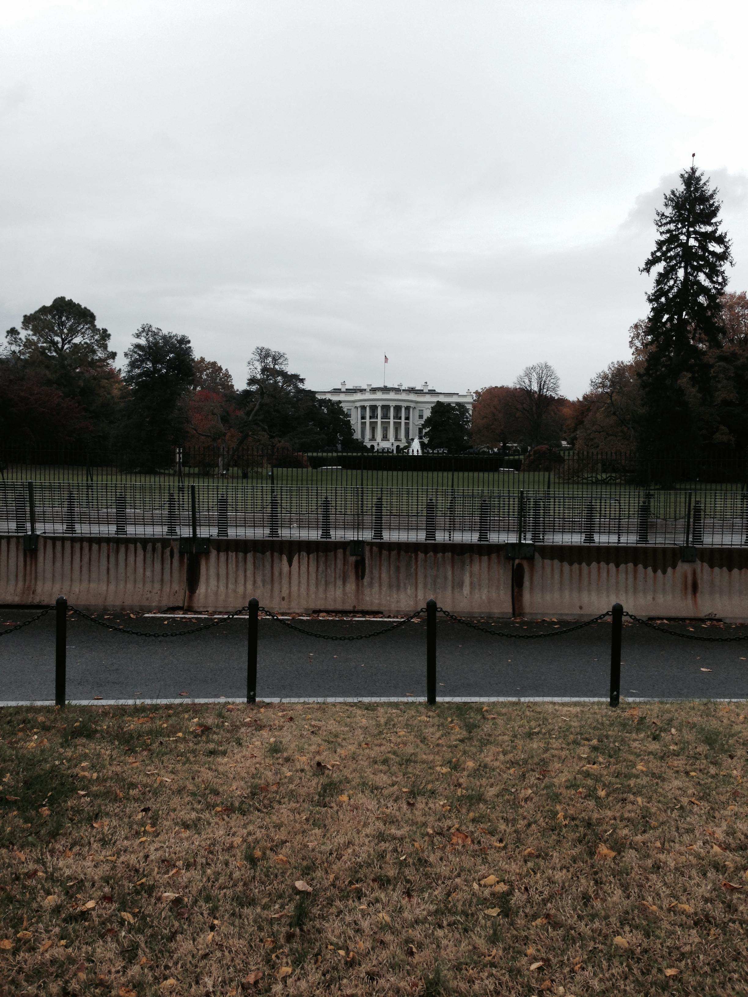 White House! Seriously far away.