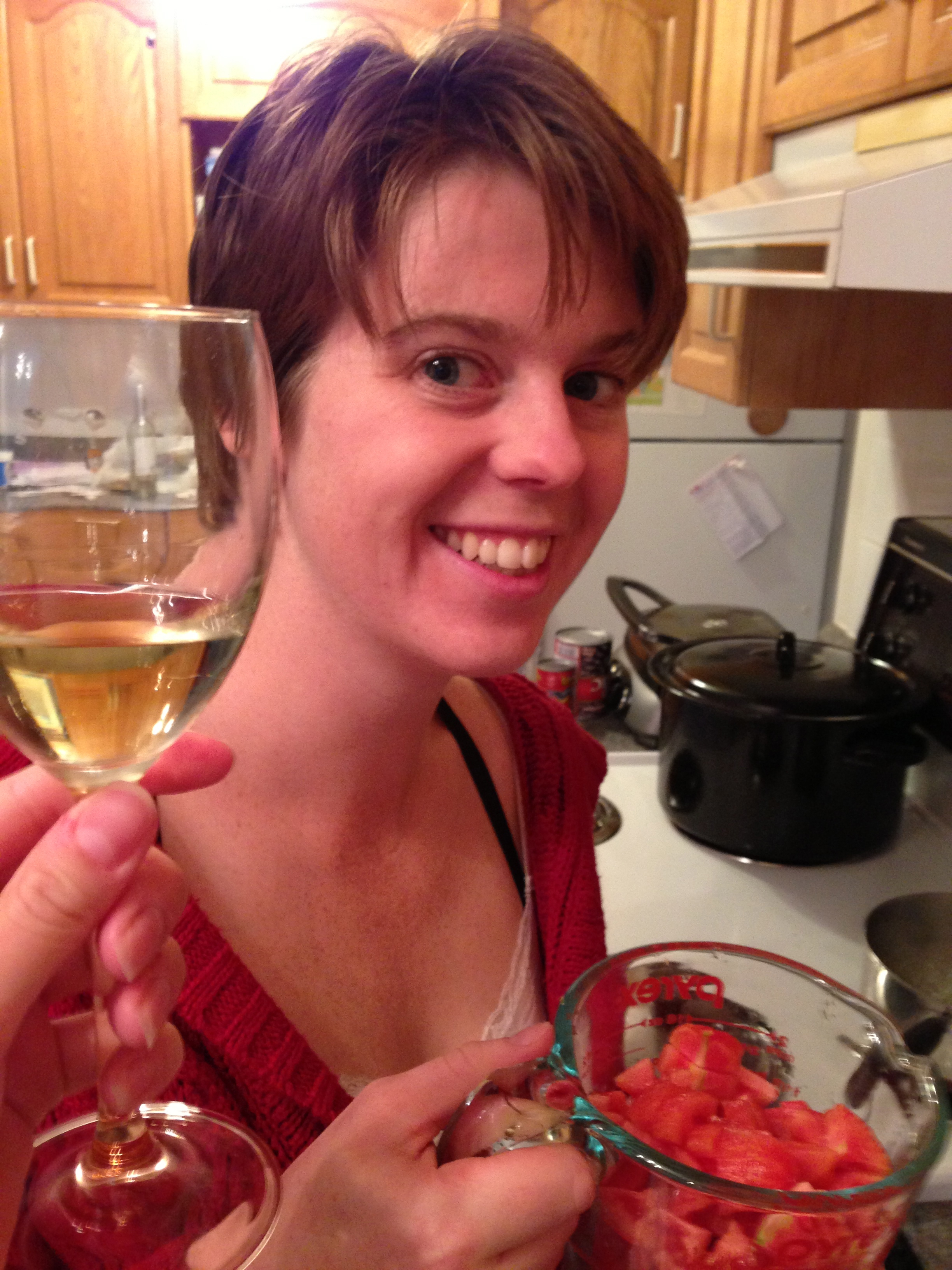 Wine, tomatoes and smiles!