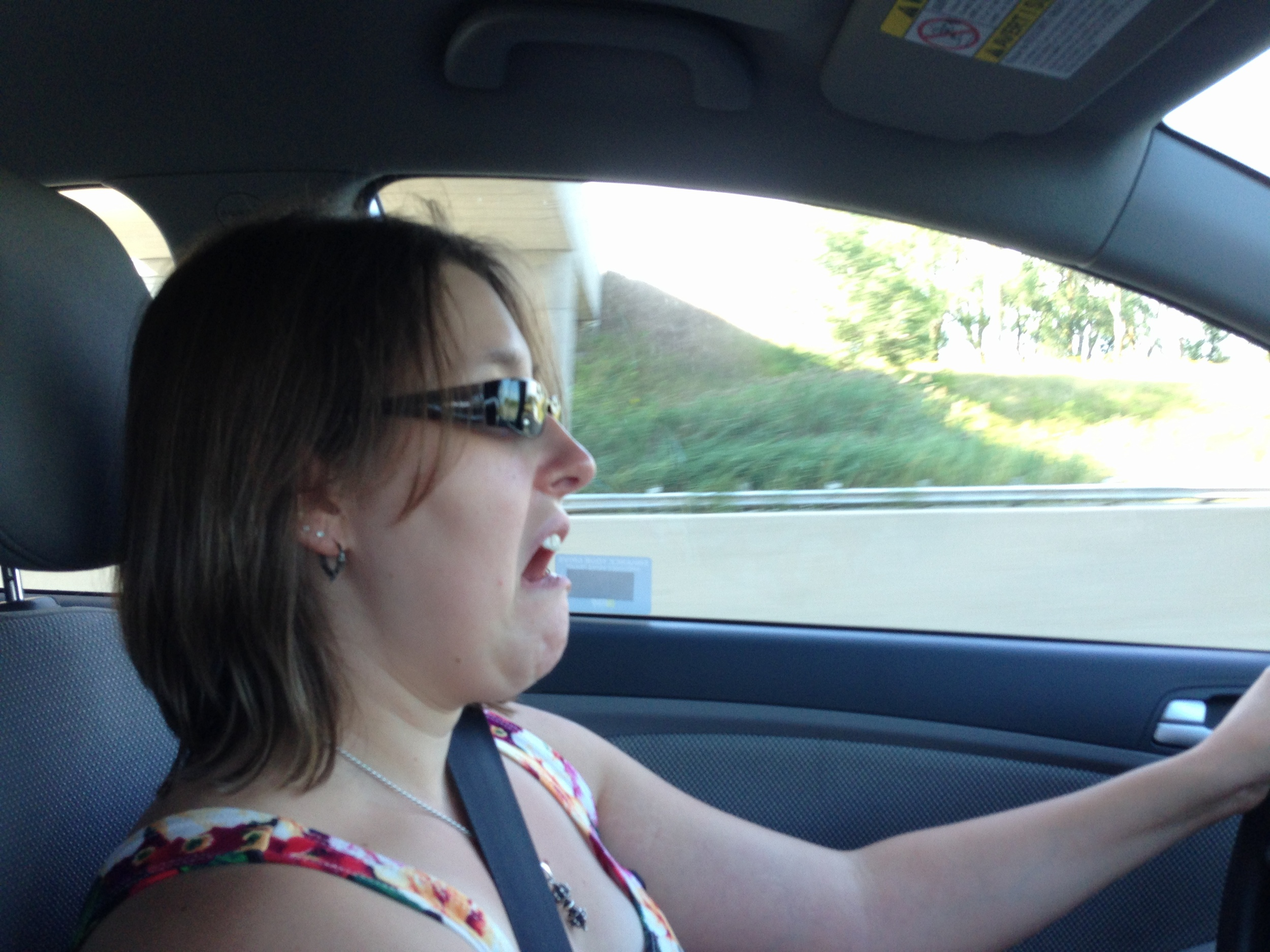 This was my face while driving the 401.