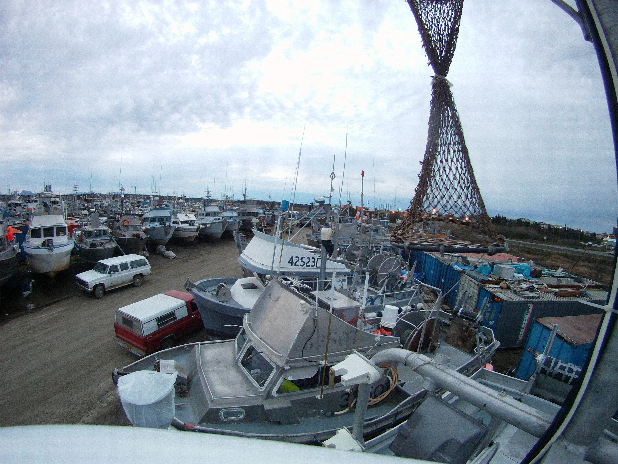 Boats hauled last winter are waiting for their preseason work followed by the annual splash into Bristol Bay