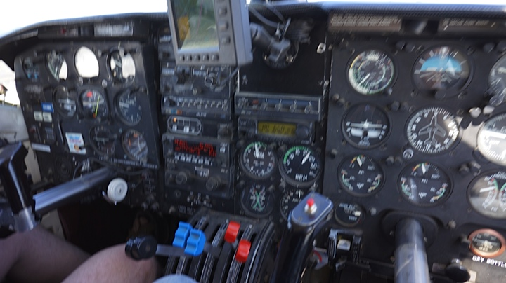Control panel of our plane