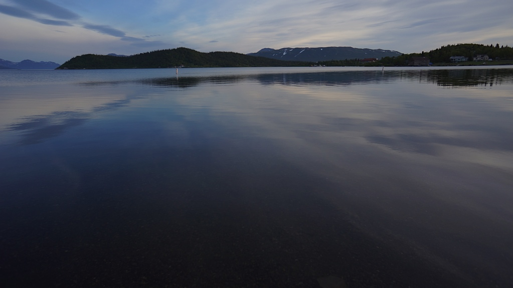 My view ofLake Aleknagik while steering the skiff back to shore at 5 am. Glassy. You can see the pebbles at the bottom of the lake in this picture.