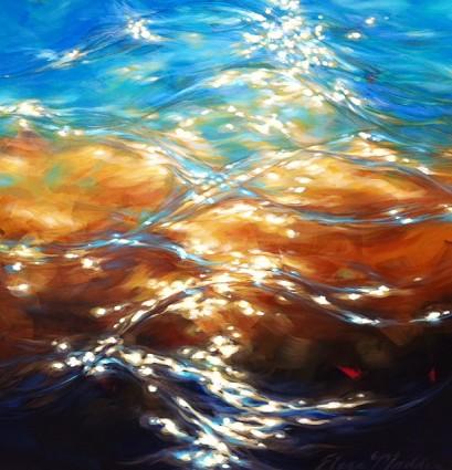 """Sea glow 36""""x36"""""""