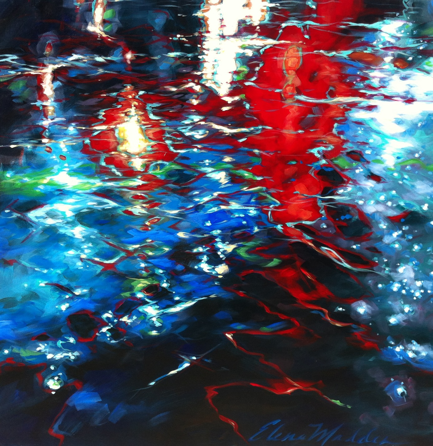 "Sea of lights 36""x36"""