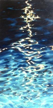 "Night swimming 24""x48"""