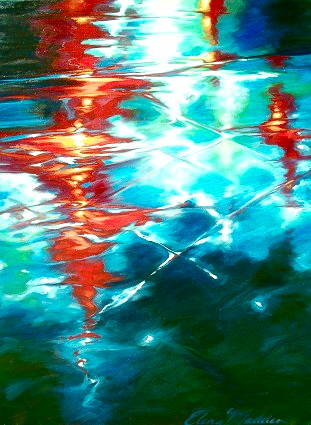 "Street reflection II 36""x48"""