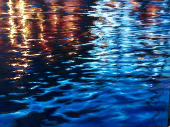 "Lights of Portofino 36x48"""